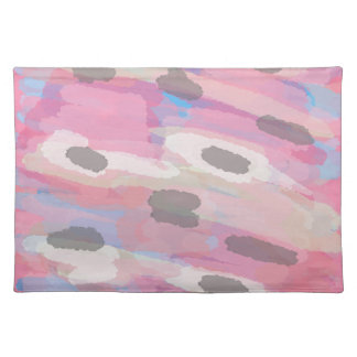 Camo Abstract Pink Pattern Placemat