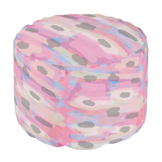 Camo Abstract Pink Pattern Pouf