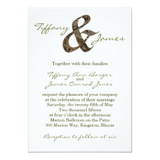 Camo Ampersand Wedding Invitation