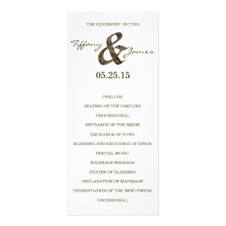 Camo Ampersand Wedding Program