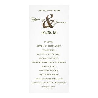 Camo Ampersand Wedding Program Rack Cards