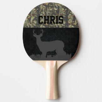 Camo and Diamond Plate Deer Hunting Name Paddle
