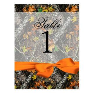 Camo and Orange Table Numbers Postcard