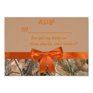 Camo and Tan RSVP Card