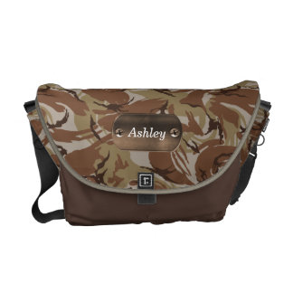 camo army brown  personalized courier bags
