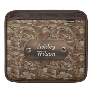 camo army brown  personalized sleeves for iPads