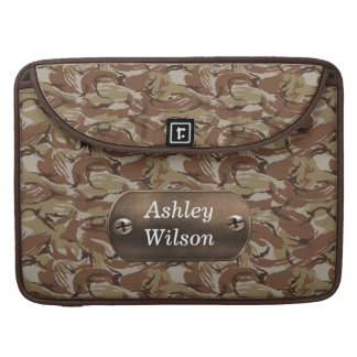 camo army brown  personalized sleeves for MacBooks