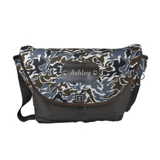 camo army gray personalized commuter bags