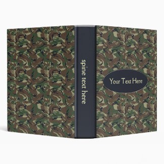 Camo army green Binder
