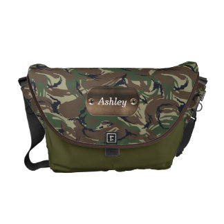camo army green personalized courier bags