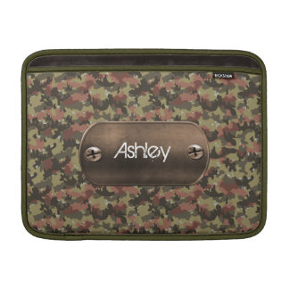 camo army green personalized MacBook air sleeves