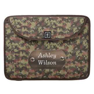 camo army green personalized MacBook pro sleeve