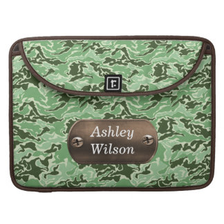 camo army green personalized MacBook pro sleeves