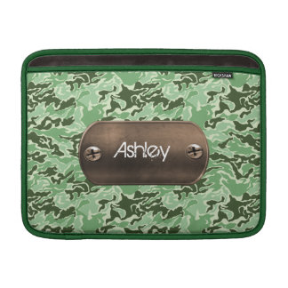 camo army green personalized MacBook sleeve