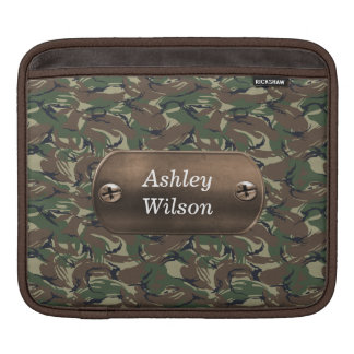 camo army green personalized sleeve for iPads
