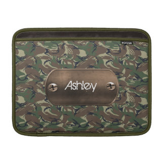 camo army green personalized sleeve for MacBook air
