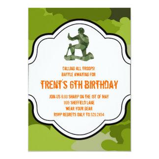 camo army man hunting adult boy twins birthday card