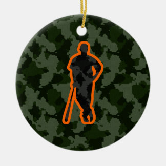 Camo Baseball Double-Sided Ceramic Round Christmas Ornament