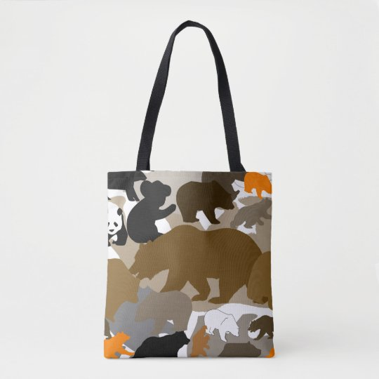 camo bear tote bag