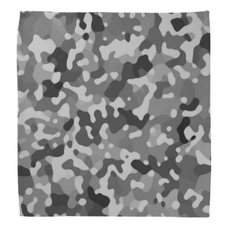 Camo Black Abstract Pattern Bandana