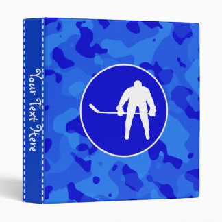 Camo bleu ; Hockey de camouflage Classeur Vinyle