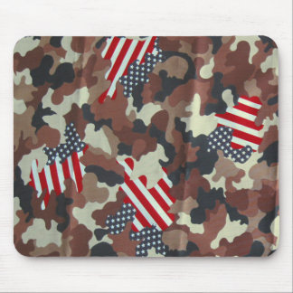 Camo Brown United States American Flag ~ Mouse Pad