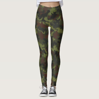 Camo Camoflauge Autism Awareness Puzzle Piece Leggings