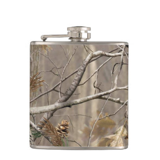 Camo Camouflage Hunting Real Tree Whiskey Flask