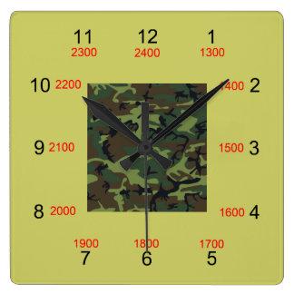 Camo Centre Military Time Wall Clock