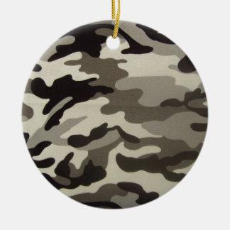 Camo Ceramic Ornament