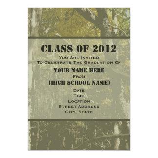 Camo Class Of 2012 Graduation Invitation