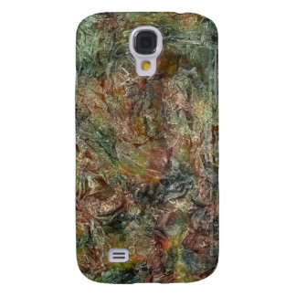 Camo Colored Frosted Autumn Abstract