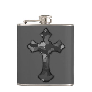 Camo Cross Hip Flask