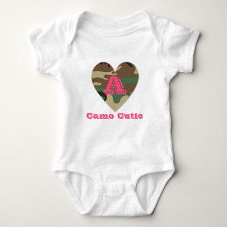 Camo Cutie Initial Baby Jersey Bodysuit