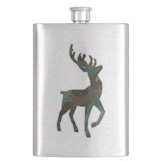 Camo Deer Hip Flask