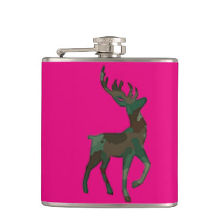 Camo Deer Hip Flask