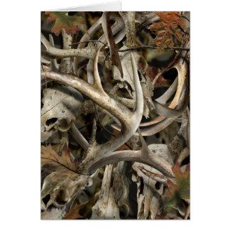 Camo Deer Skulls Card