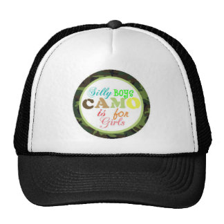 camo  for girls mesh hats