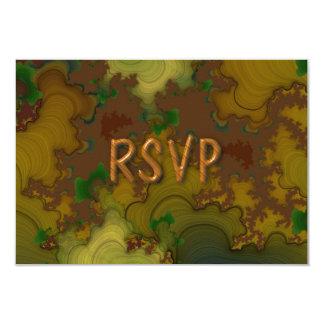 "Camo Fractal Reception RSVP 3.5"" X 5"" Invitation Card"