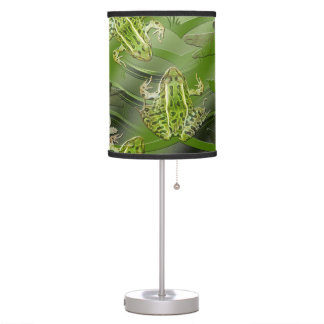 Camo Frogs Dragonflies Table Lamps