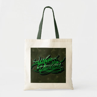 Camo graffiti tote bag