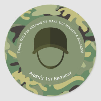 Camo Green | Army Birthday Sticker