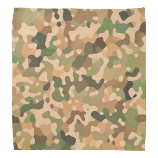 Camo - Green Orange Brown Black Bandana