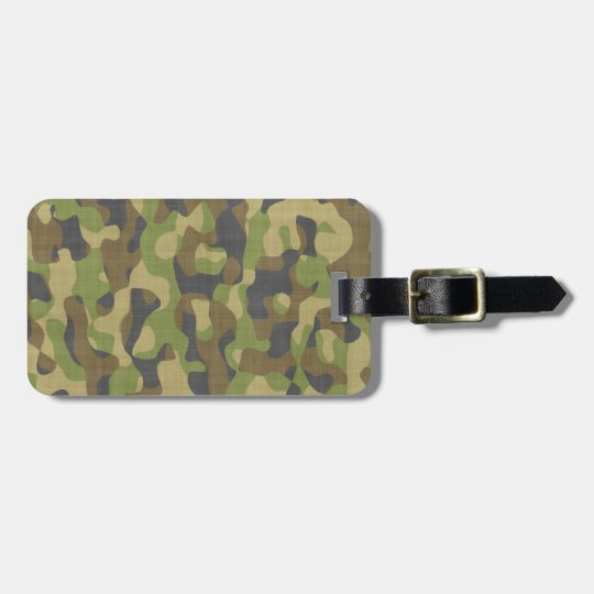 Camo Greens & Browns Bag Tag