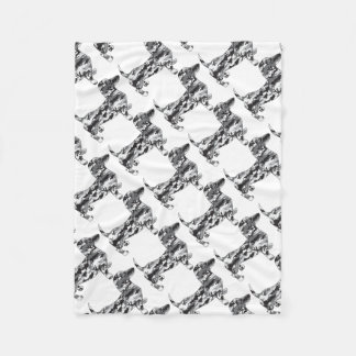 Camo-Grey-Doxie Fleece Blanket