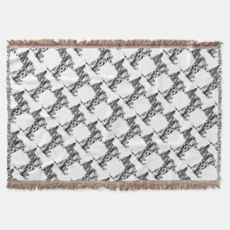 Camo-Grey-Doxie Throw Blanket