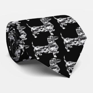 Camo-Grey-Doxie Tie