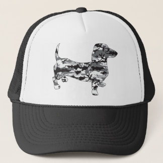 Camo-Grey-Doxie Trucker Hat