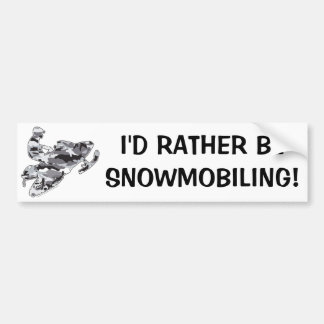 Camo Grey Sled on Black copy Bumper Sticker