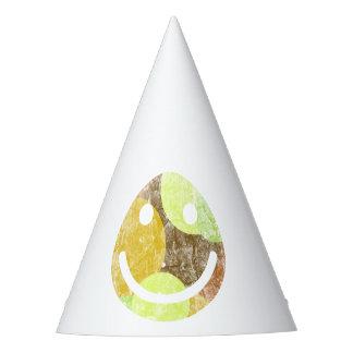 Camo Happy Face Party Hat